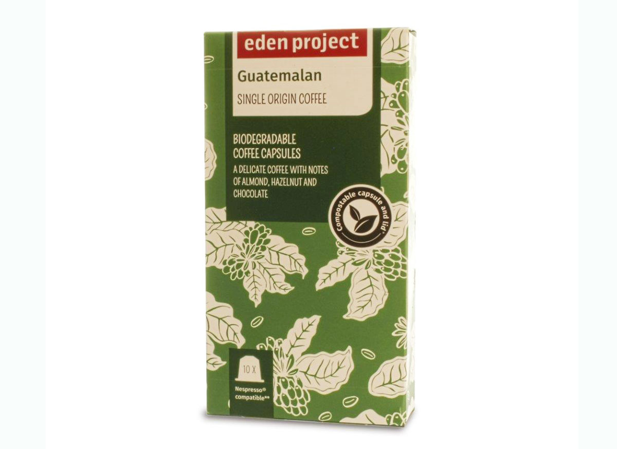 Eden Project Biodegradable coffee capsules guatemalan